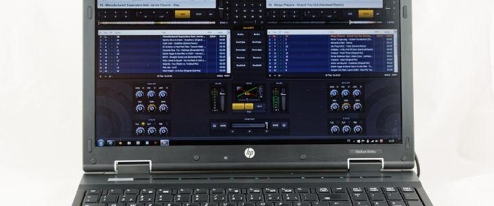 Mixer software on a laptop