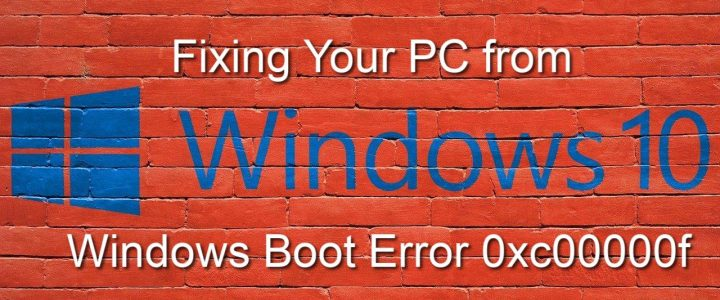 Fixing your PC from Windows boot error 0xc00000f